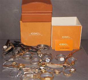 Large Grouping of Wristwatches Ebel Box