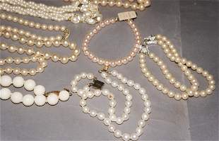 Vintage Pearl Necklaces Groupings