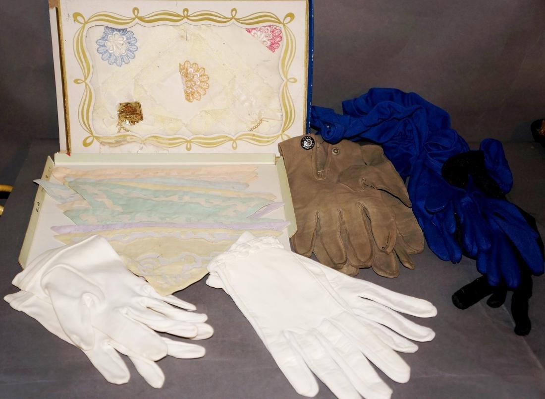 Vintage Handkerchief, Gloves Lot