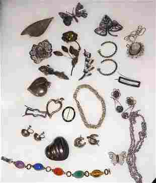 Vintage Sterling Silver Jewelry Lot