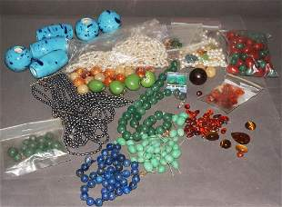 Vintage Loose Stones and Beads Lot