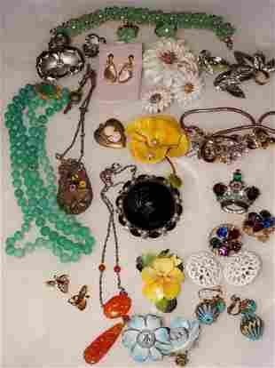 Vintage Costume Jewelry Group Hattie Carnegie