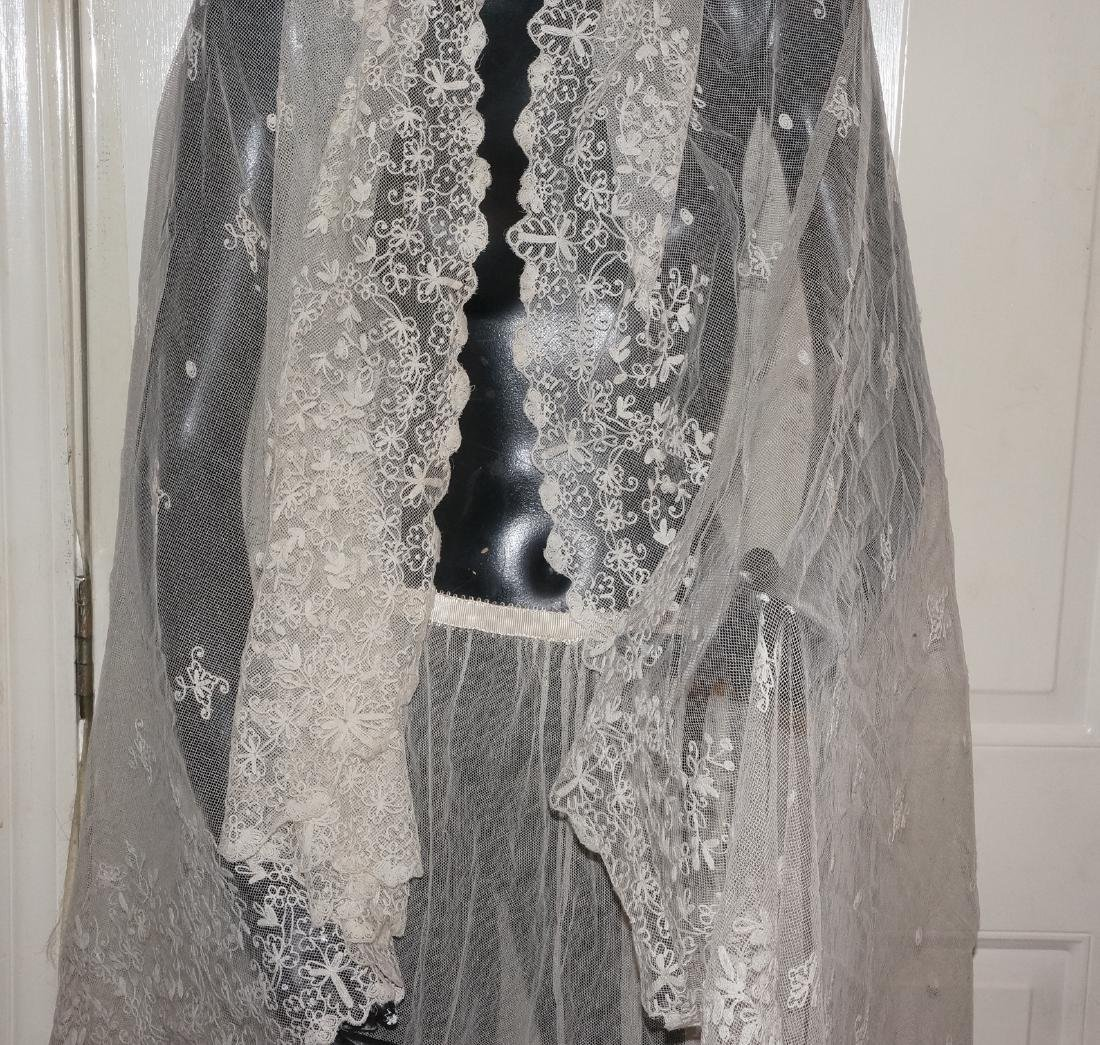 Antique Net and Lace Shawl & Skirt - 2