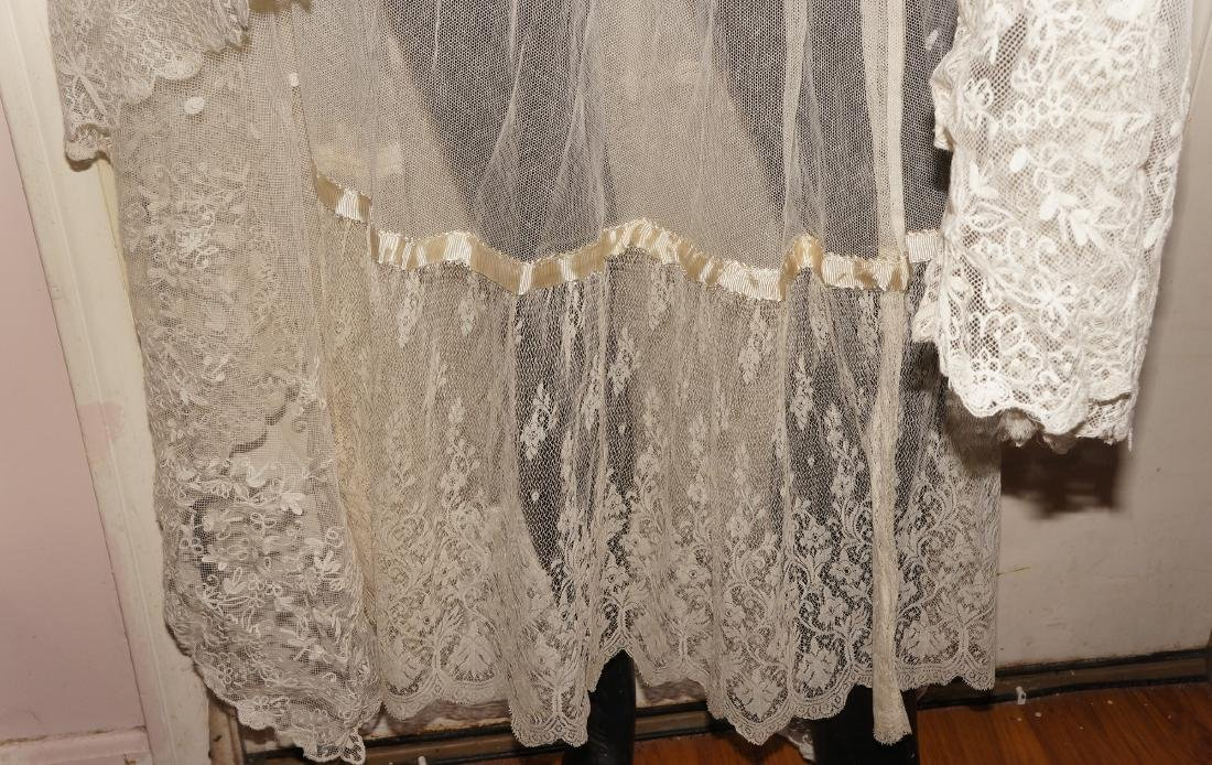 Antique Net and Lace Shawl & Skirt - 3