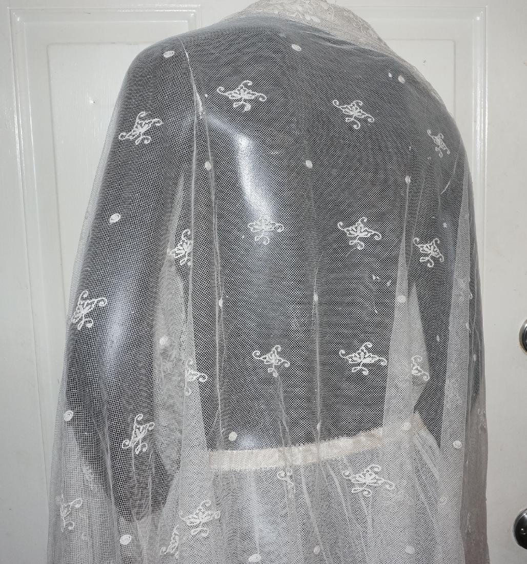 Antique Net and Lace Shawl & Skirt - 5