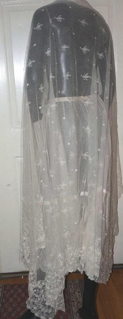 Antique Net and Lace Shawl & Skirt - 6