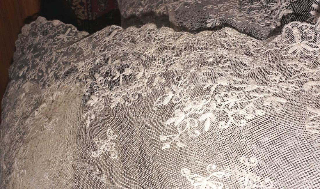 Antique Net and Lace Shawl & Skirt - 7