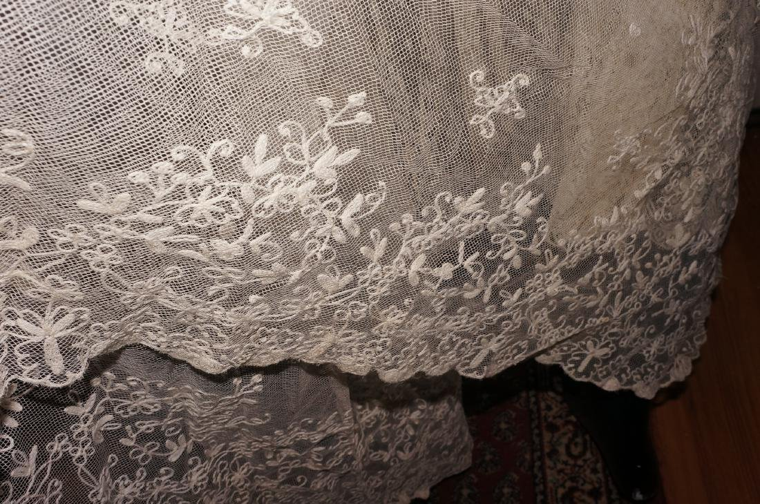 Antique Net and Lace Shawl & Skirt - 8