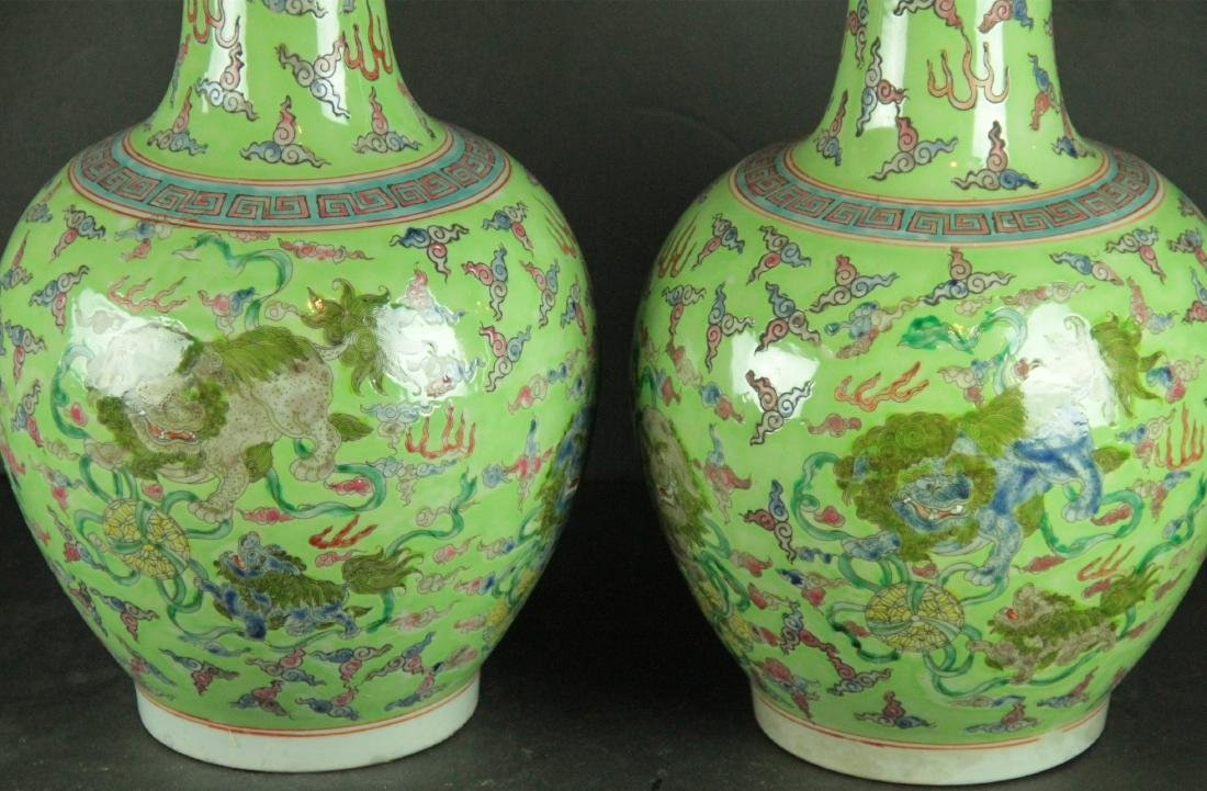 Pair Of Chinese Famille Rose Porcelain Vases - 2