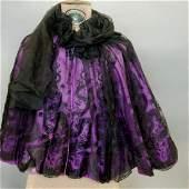 Black Lace Shoulder Cape
