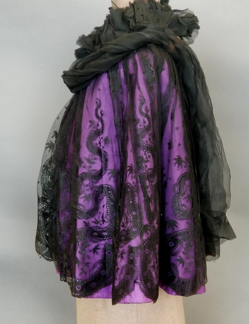 Black Lace Shoulder Cape - 2