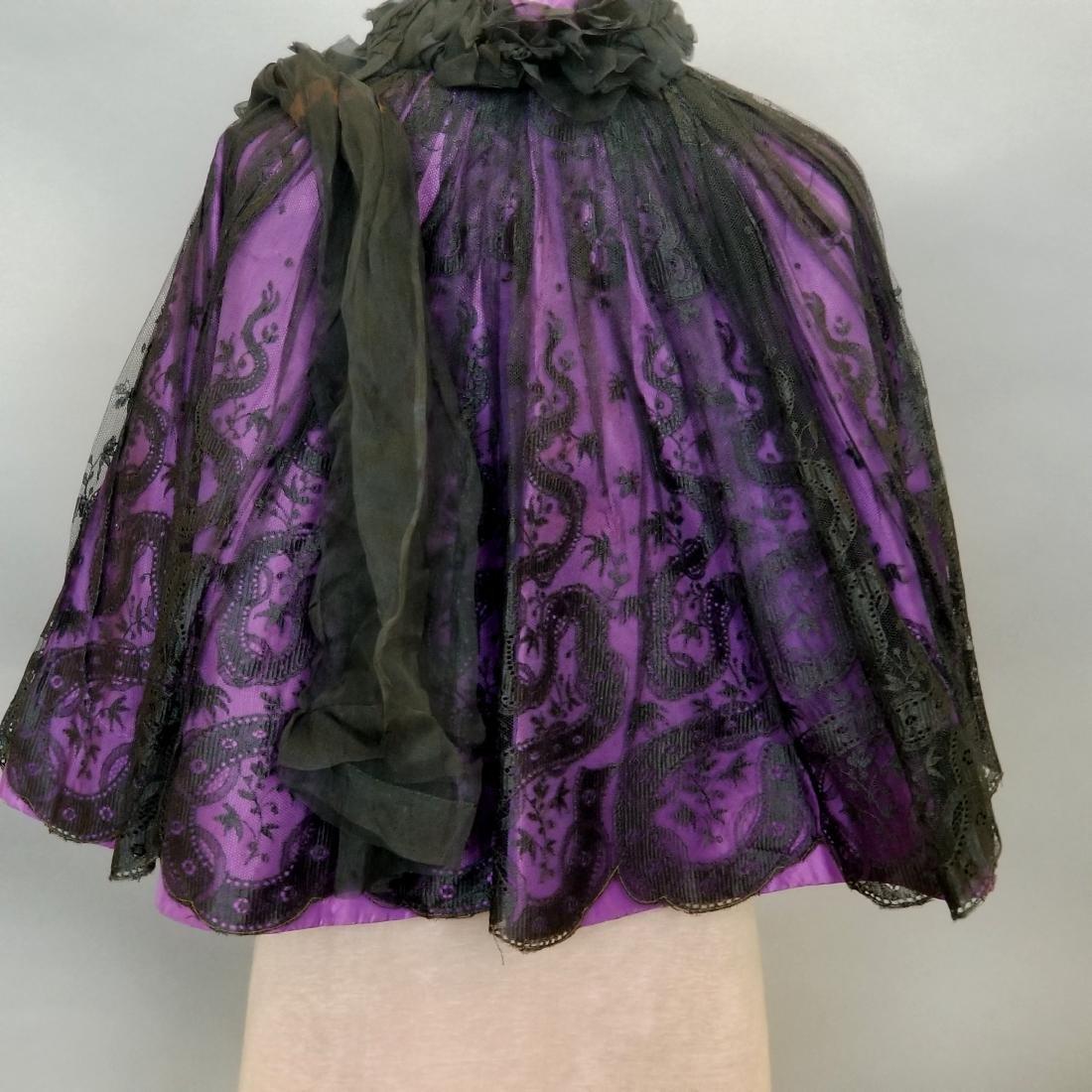 Black Lace Shoulder Cape - 5