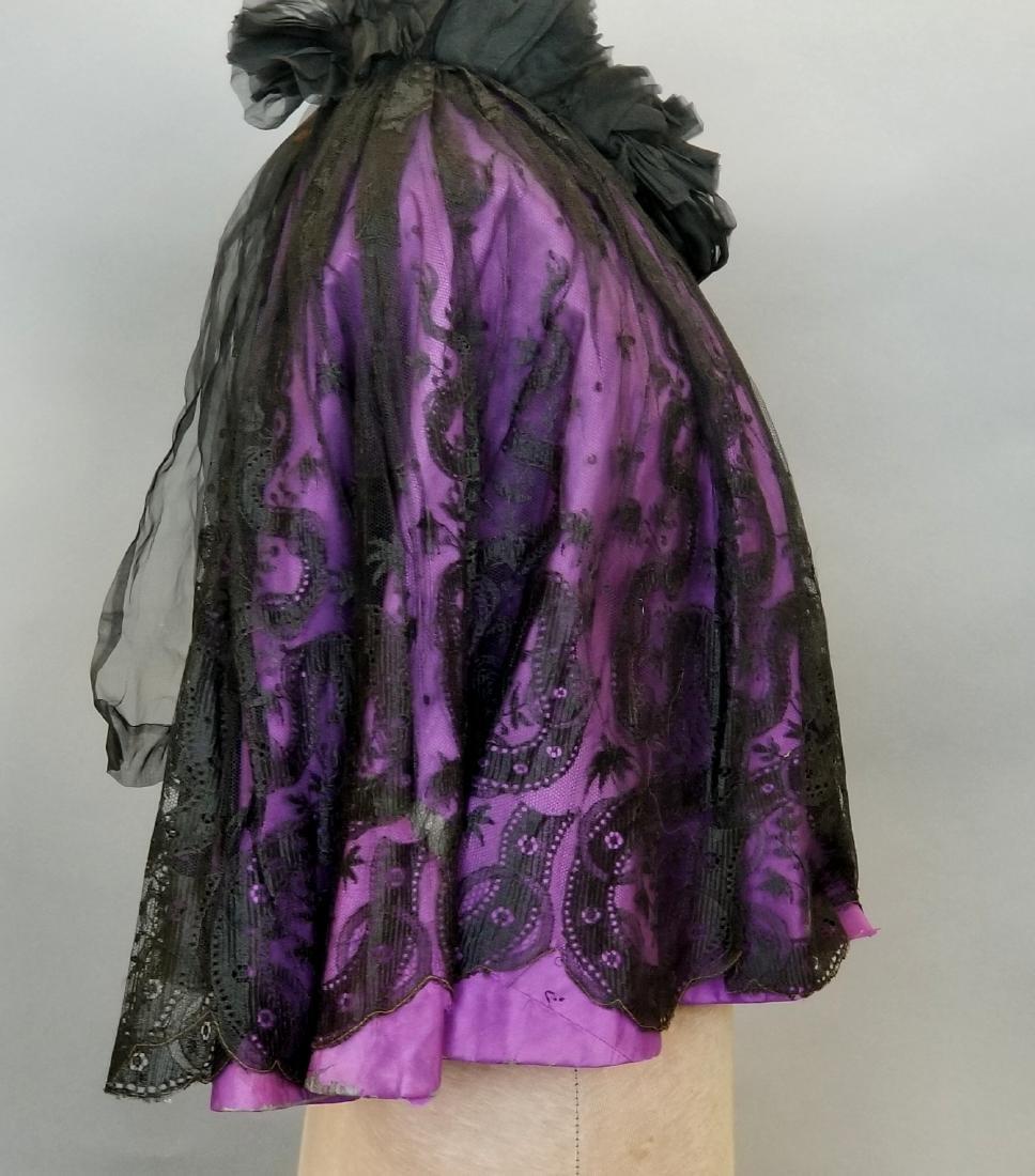 Black Lace Shoulder Cape - 6