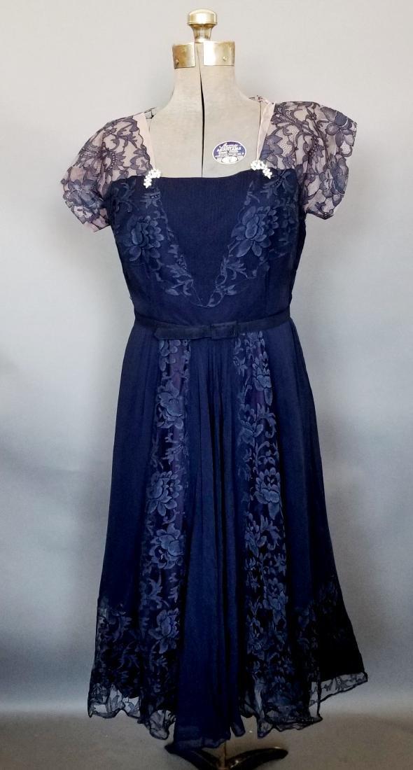 Vintage Navy Cocktail Dress