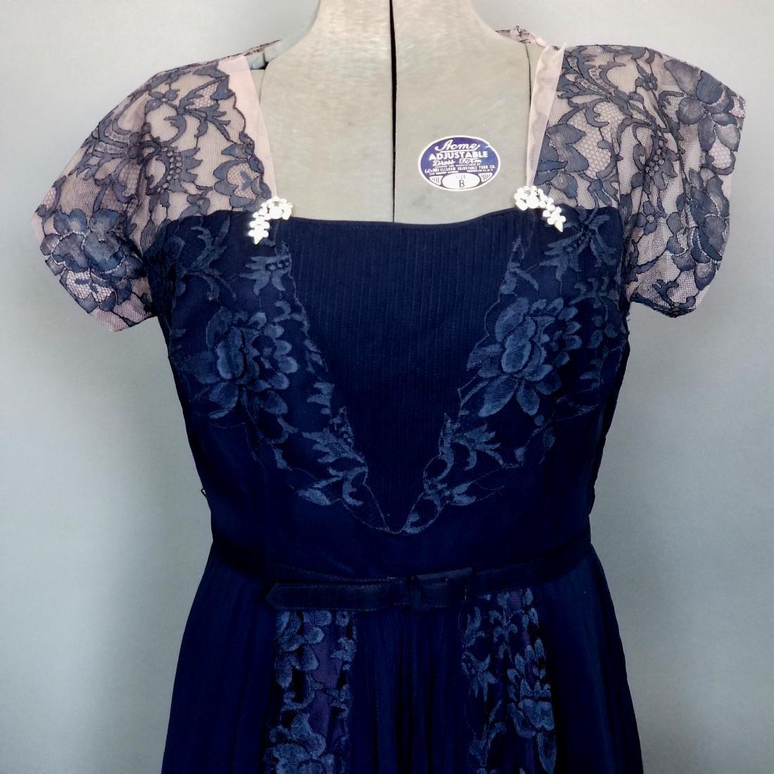 Vintage Navy Cocktail Dress - 2
