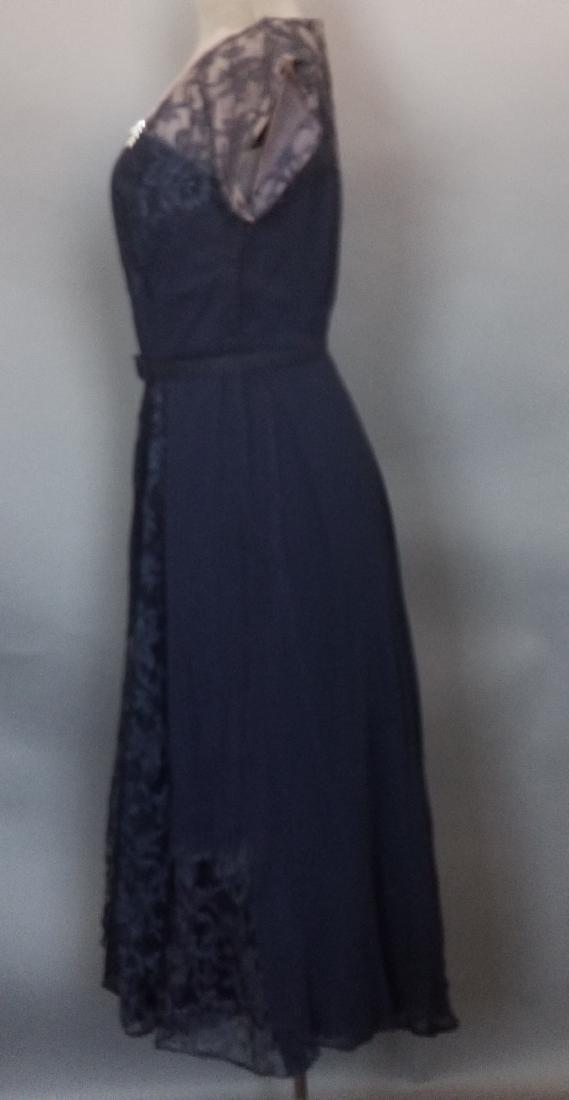 Vintage Navy Cocktail Dress - 4
