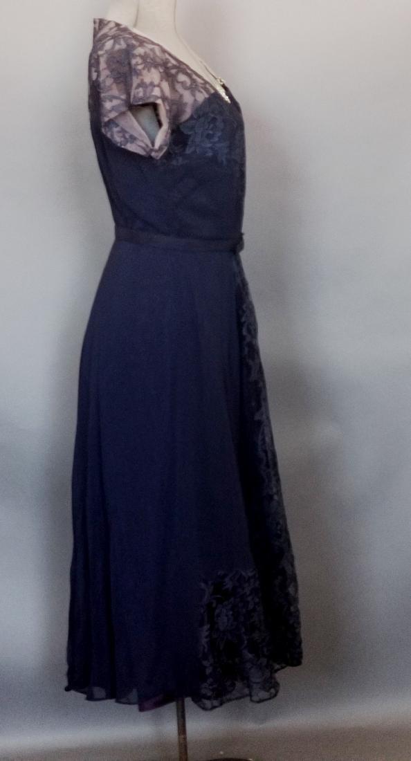 Vintage Navy Cocktail Dress - 6
