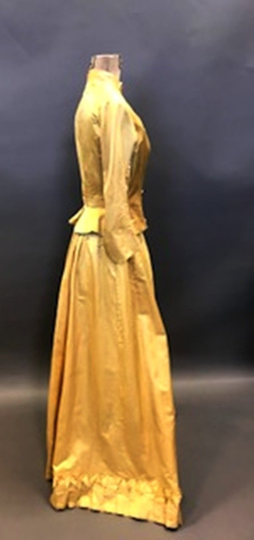 Gold Silk Dress - 3