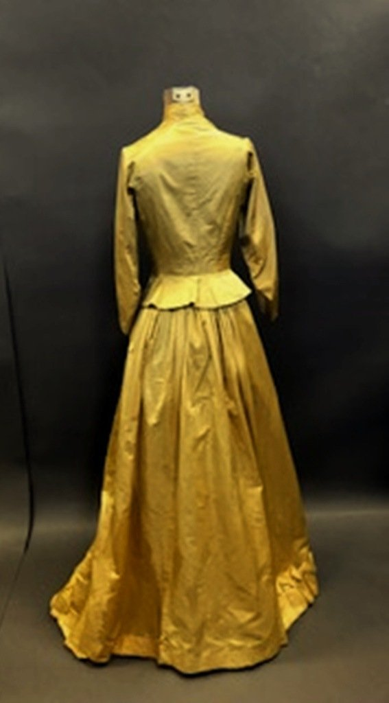 Gold Silk Dress - 4