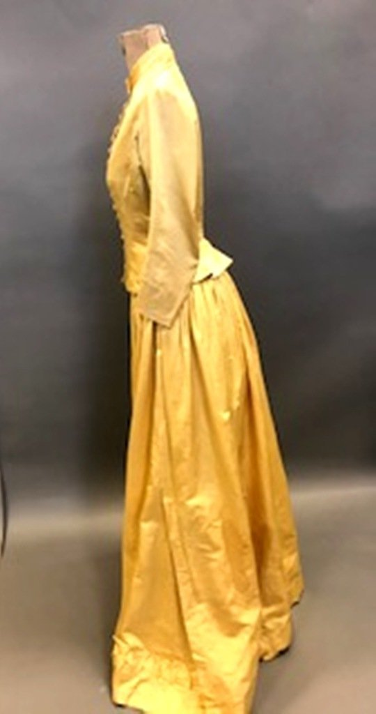 Gold Silk Dress - 5