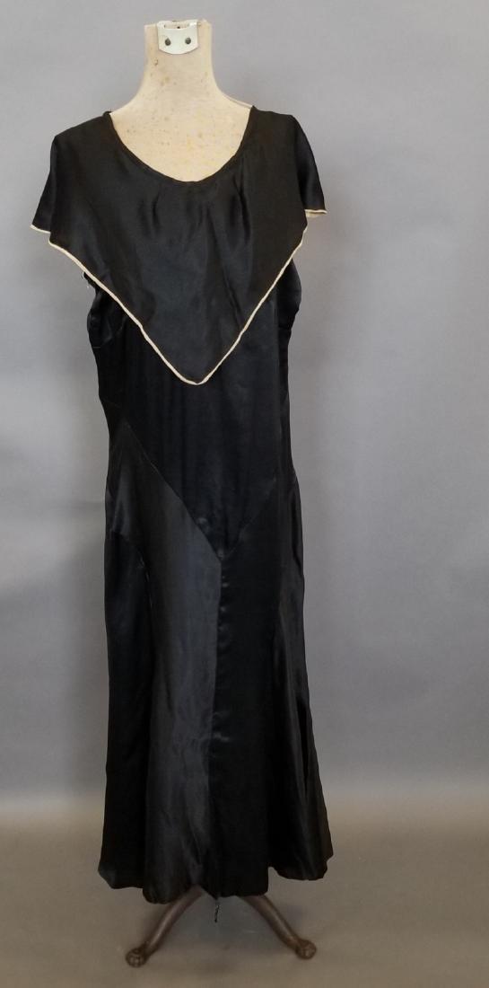 Black Silk Semi-Formal Dress