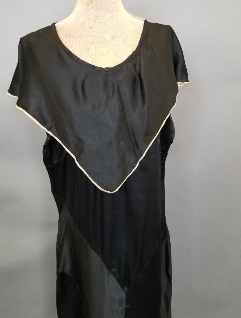 Black Silk Semi-Formal Dress - 2