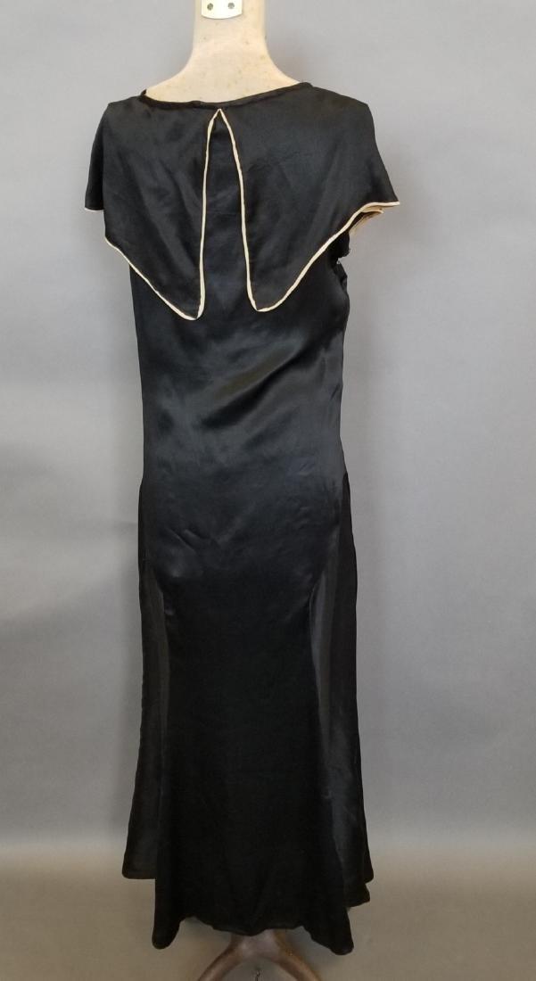 Black Silk Semi-Formal Dress - 3