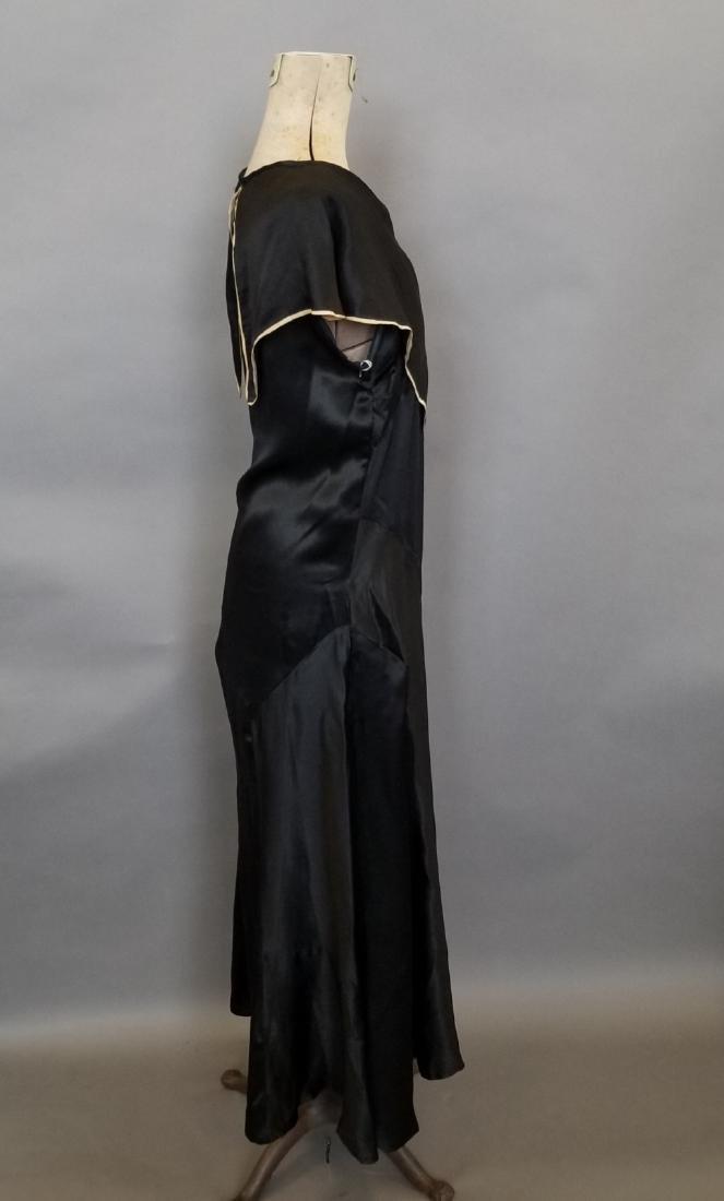 Black Silk Semi-Formal Dress - 4