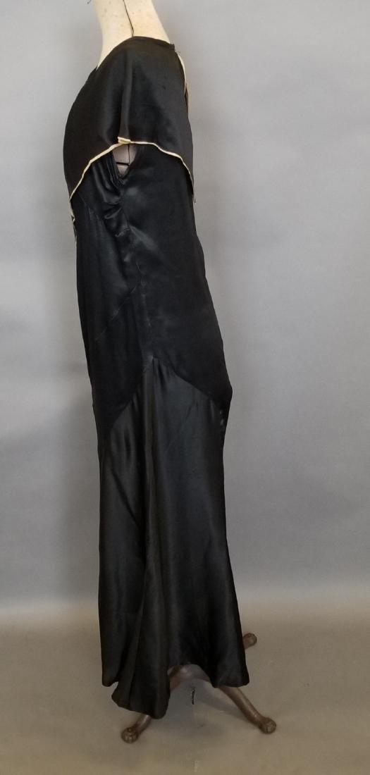 Black Silk Semi-Formal Dress - 5