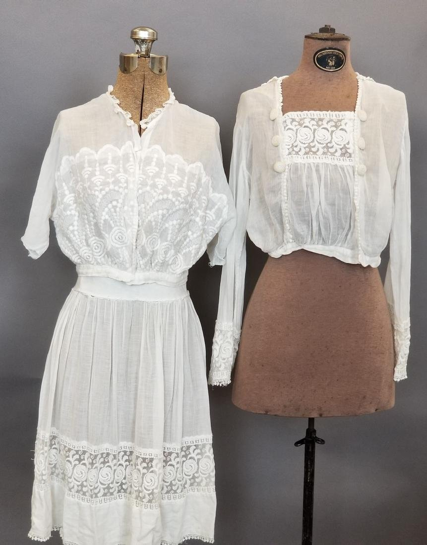 Three Piece White Day Dress