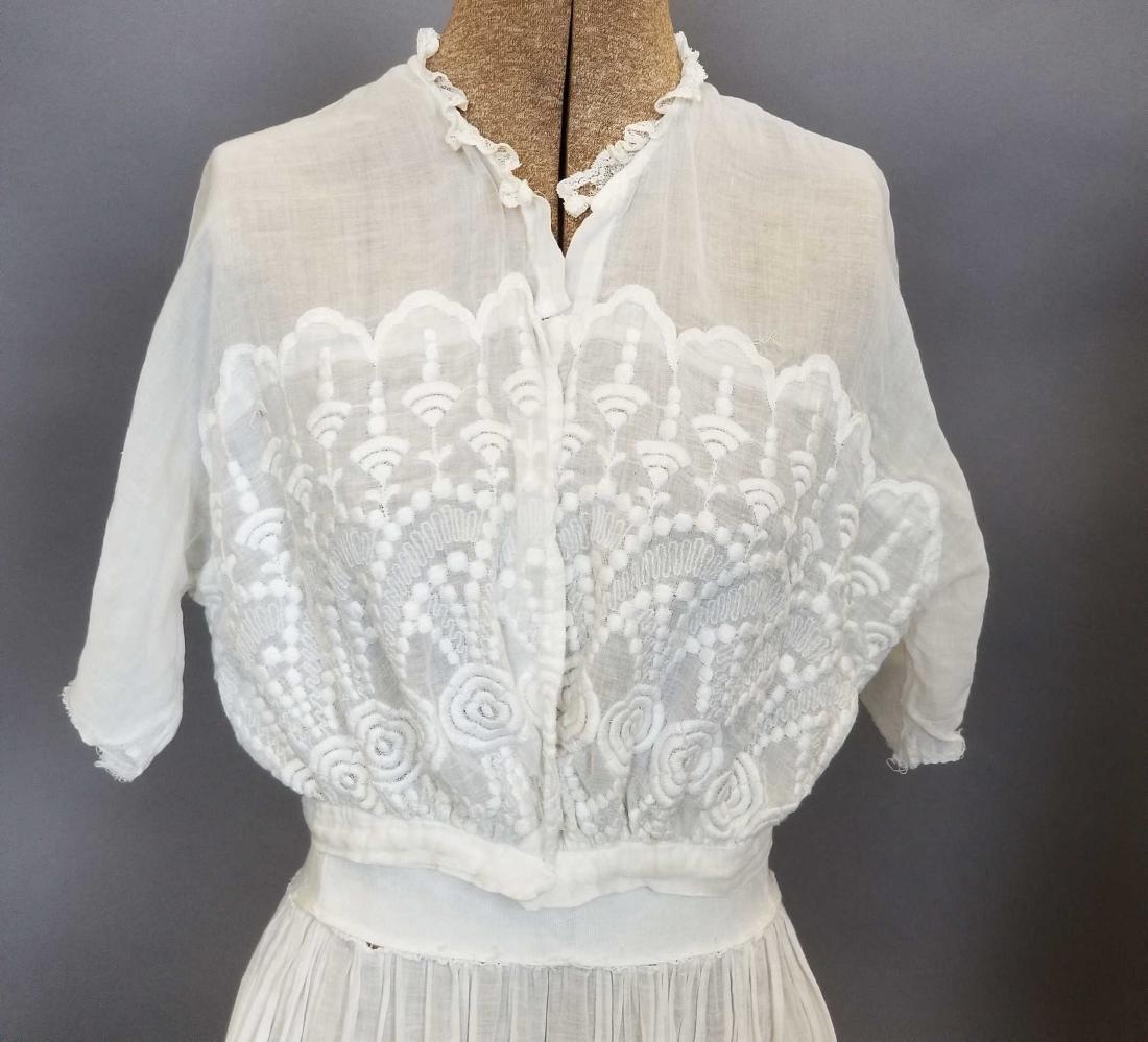 Three Piece White Day Dress - 2
