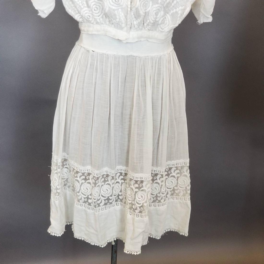 Three Piece White Day Dress - 3