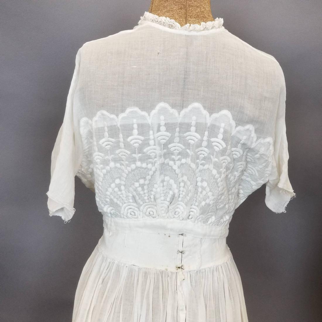 Three Piece White Day Dress - 4