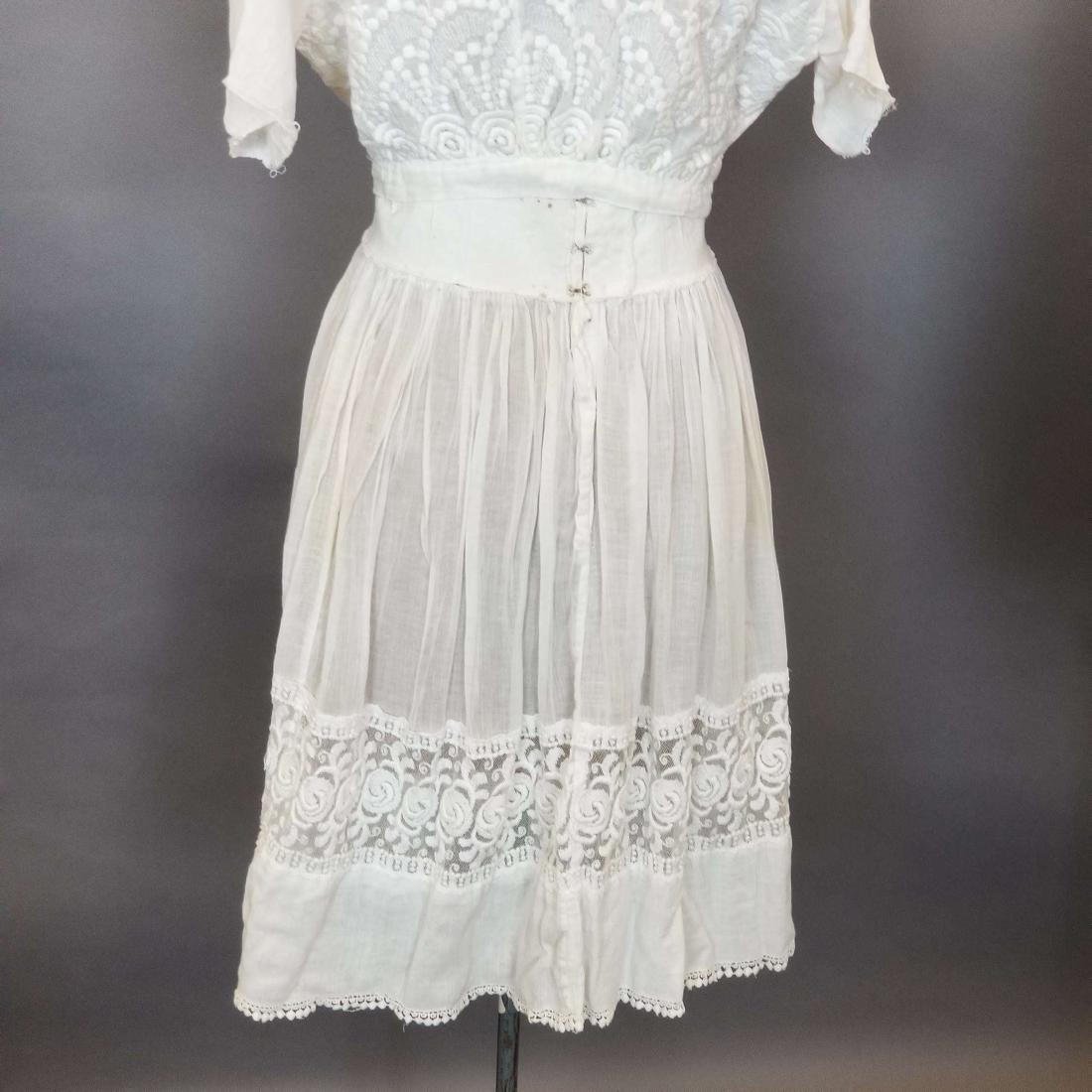 Three Piece White Day Dress - 6