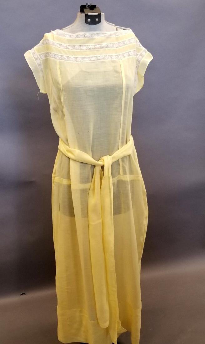 Yellow Sheer Linen Dress