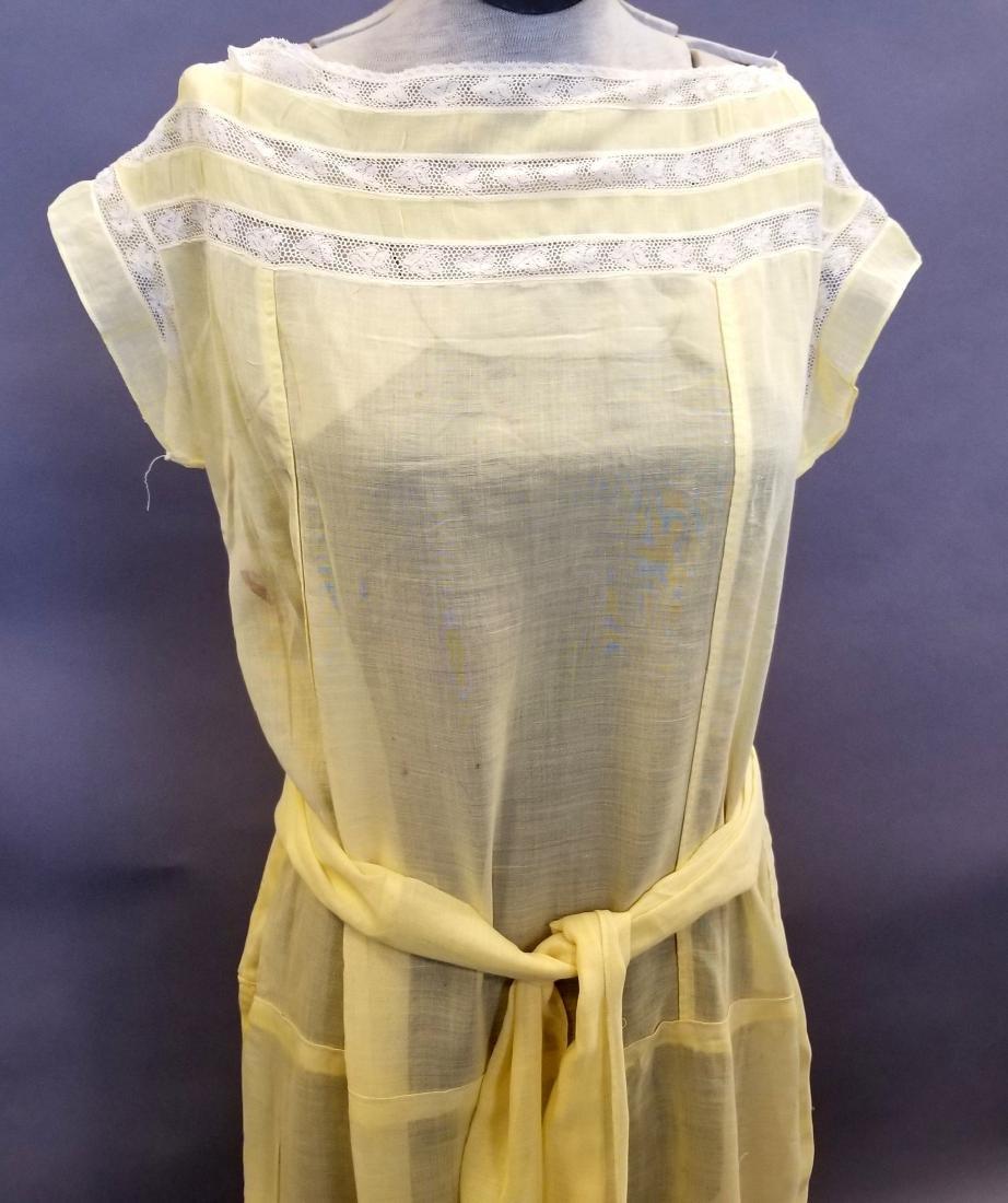 Yellow Sheer Linen Dress - 2