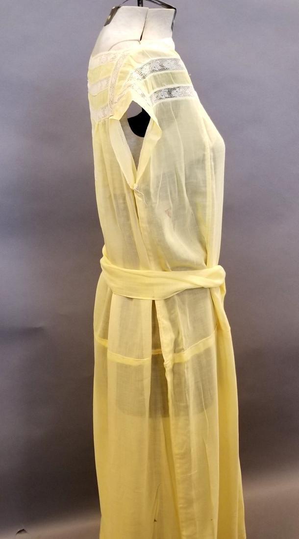 Yellow Sheer Linen Dress - 4