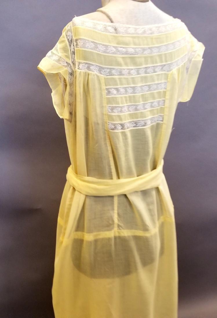 Yellow Sheer Linen Dress - 5
