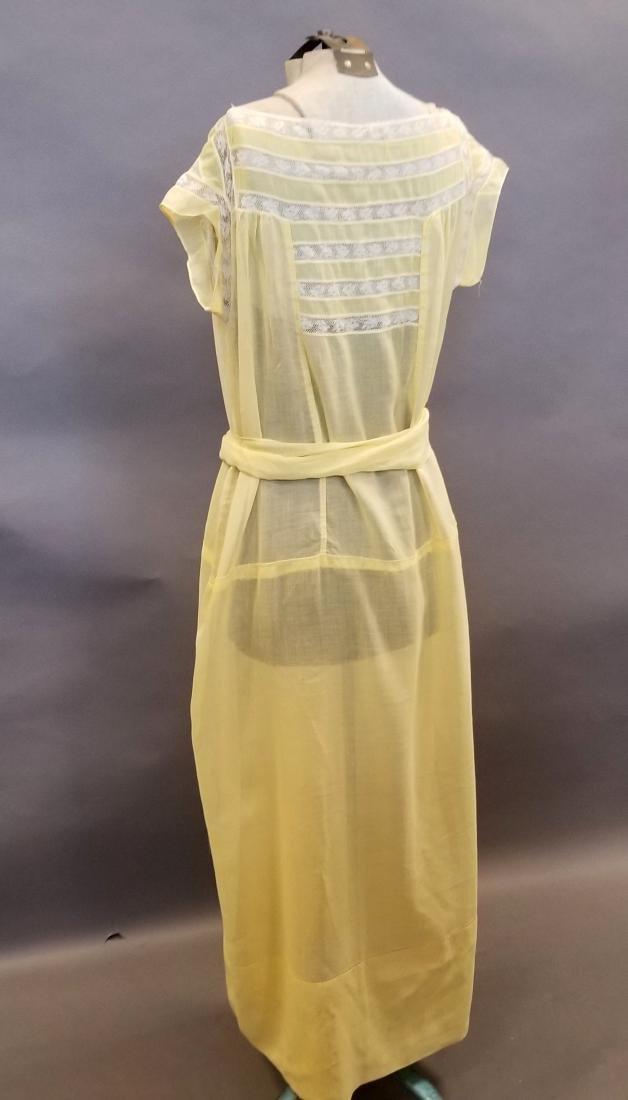 Yellow Sheer Linen Dress - 6