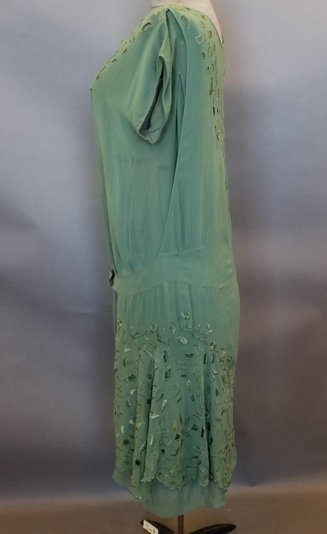 Silk Green Dress - 2