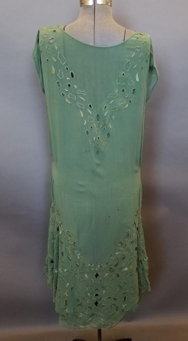 Silk Green Dress - 4