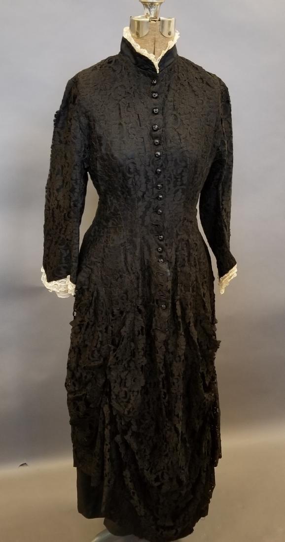 Black Lace Reception Dress