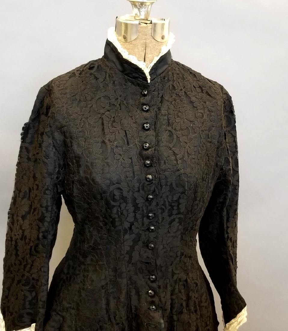 Black Lace Reception Dress - 2