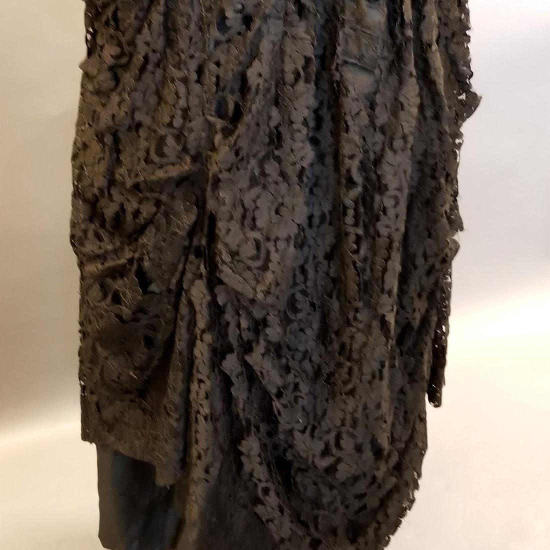 Black Lace Reception Dress - 3
