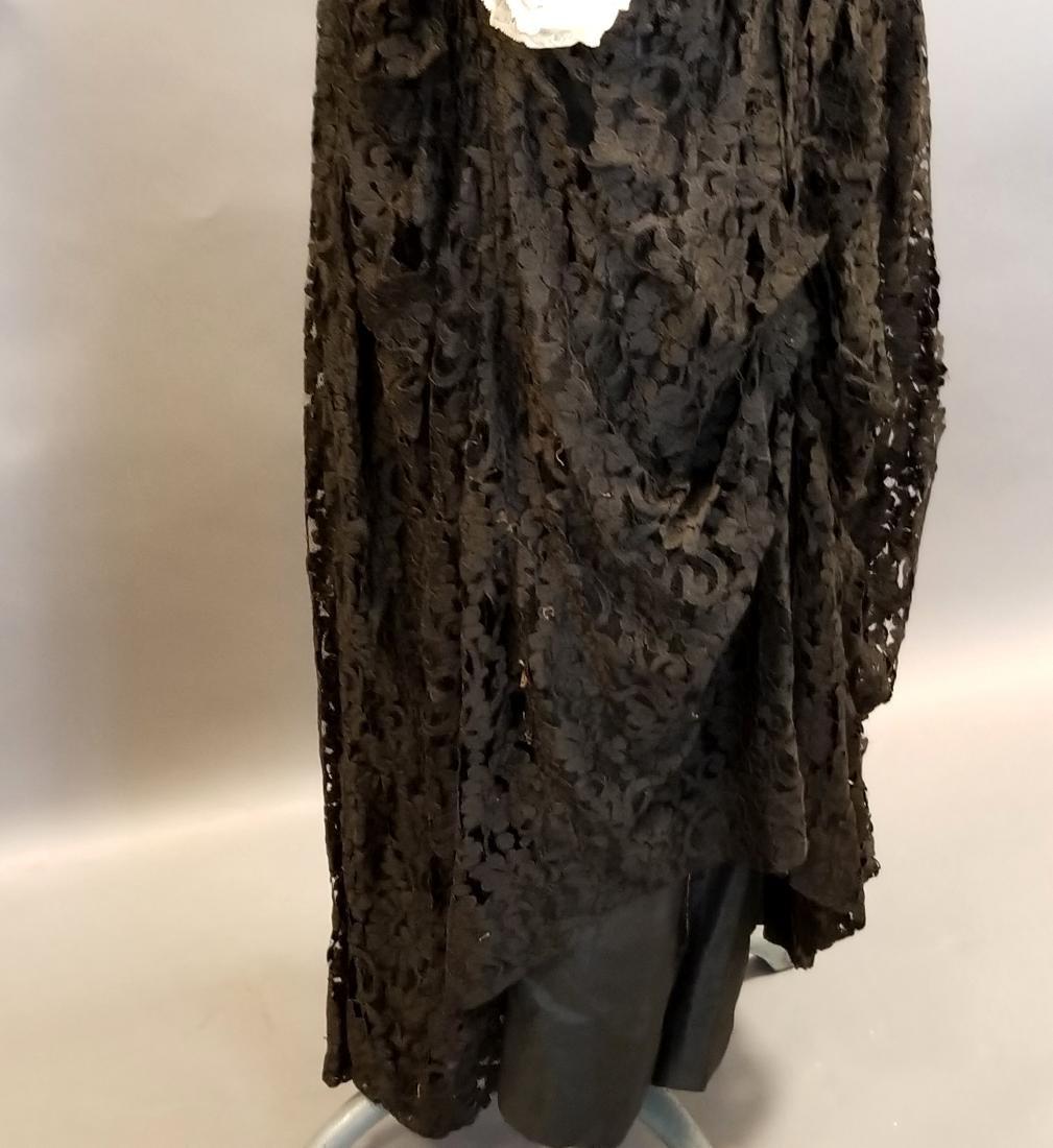 Black Lace Reception Dress - 4