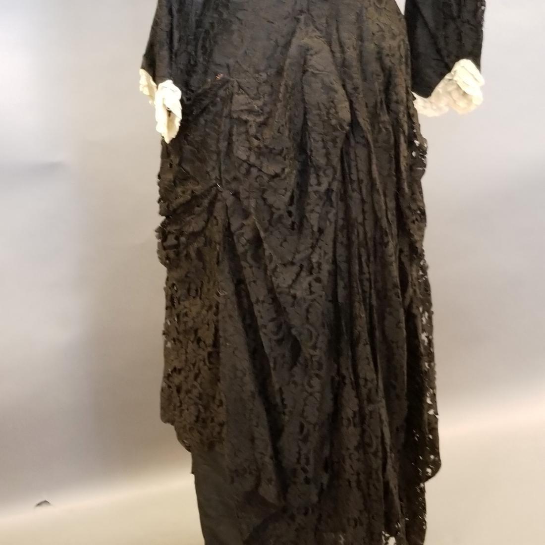 Black Lace Reception Dress - 5