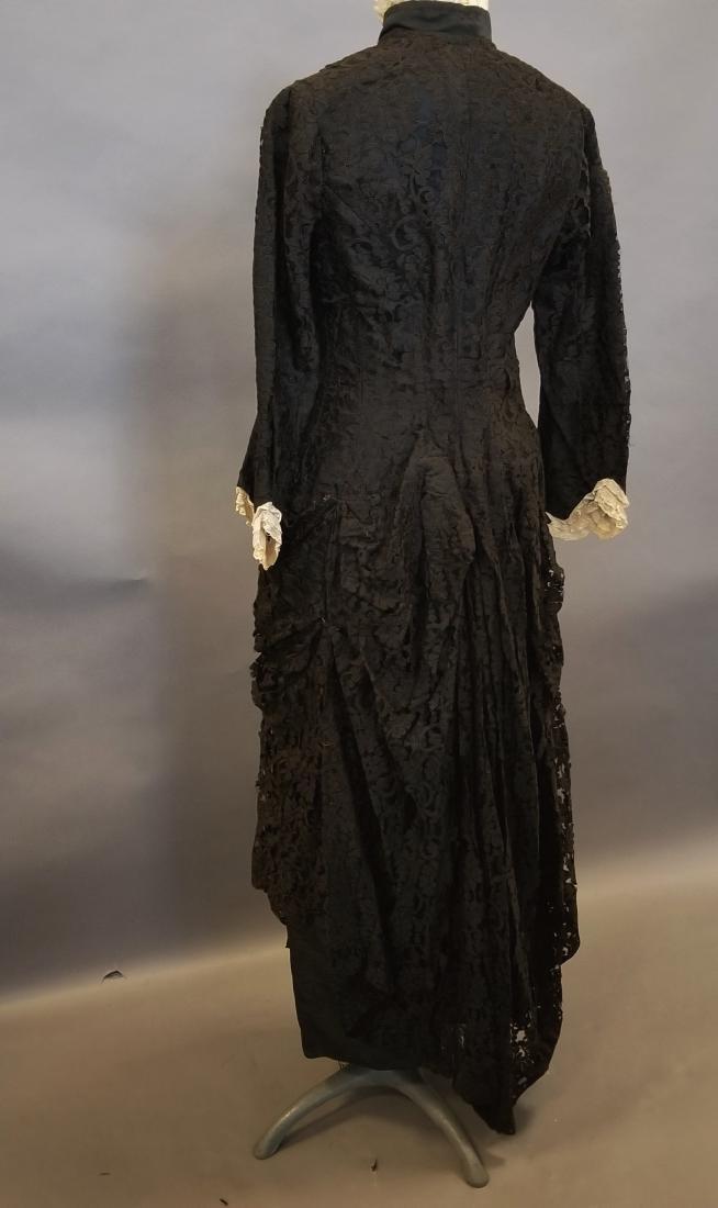 Black Lace Reception Dress - 6