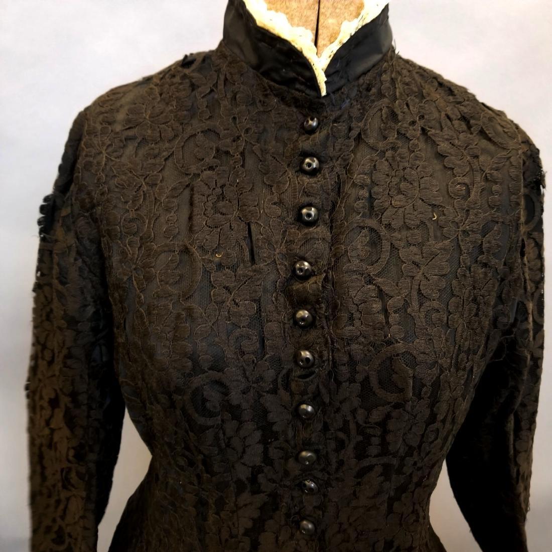 Black Lace Reception Dress - 7
