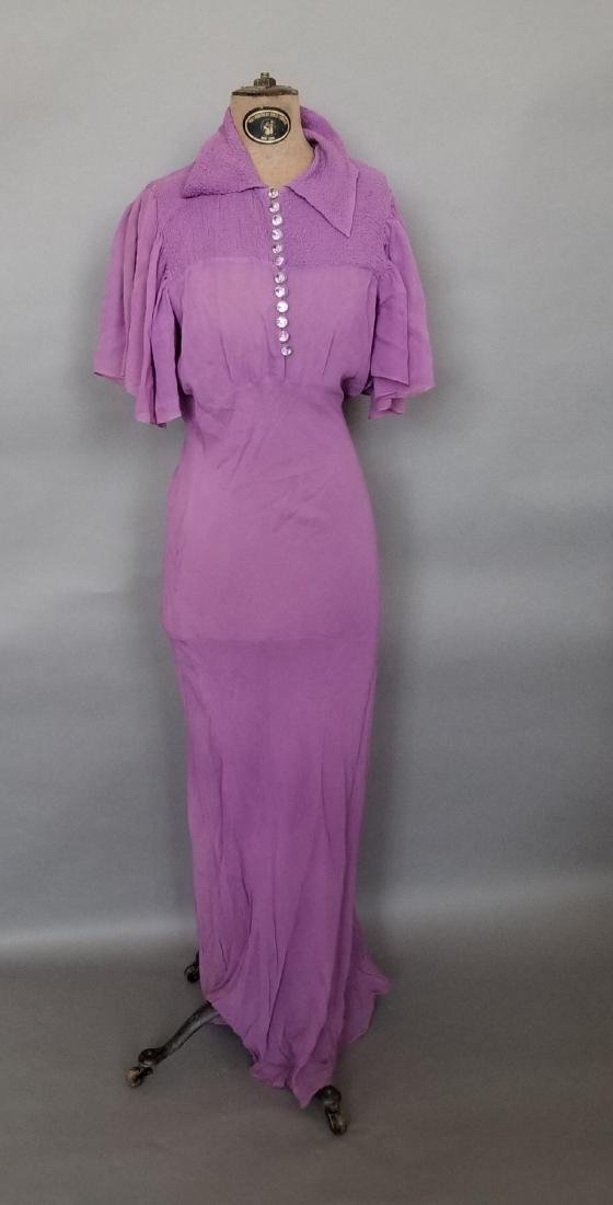 Light Purple Chiffon Evening Dress