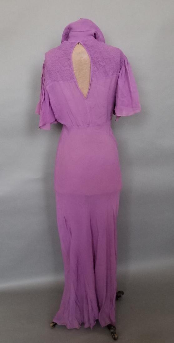 Light Purple Chiffon Evening Dress - 3